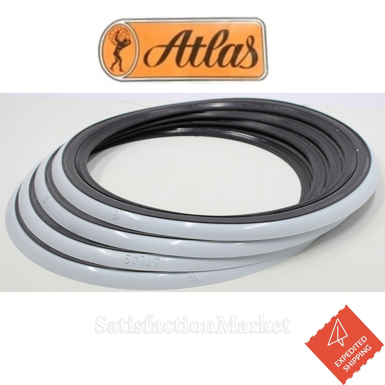 ATLAS 13 Black /& White Two color White Tire Wall Portawall Insert Trim Set 4pcs