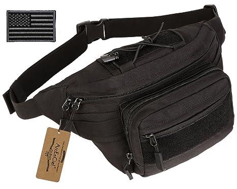 ArcEnCiel Outdoor Military Waist Bag Tactical Waist Pack Shoulder Bag  Multi-Pocket Molle Camping Hiking 81fa715e84