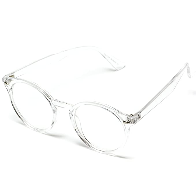 4e59f5bf0fe Amazon.com  WearMe Pro - Transparent Clear Frame Round Hipster Glasses   Clothing