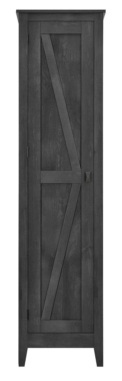 "Ameriwood Home 7531196COM Farmington Wide Storage Cabinet 18"" Rustic Gray"