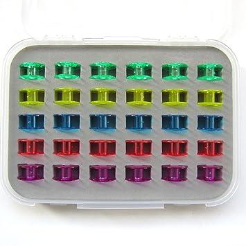 KUNPENG – # 2518P-30WB 30 bobinas de plástico para máquina de coser Singer Clase