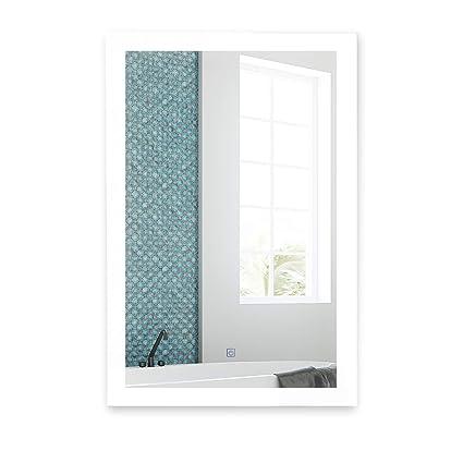 Amazon Com Led Bathroom Mirror Contemporary Lighted Vanity Mirrors