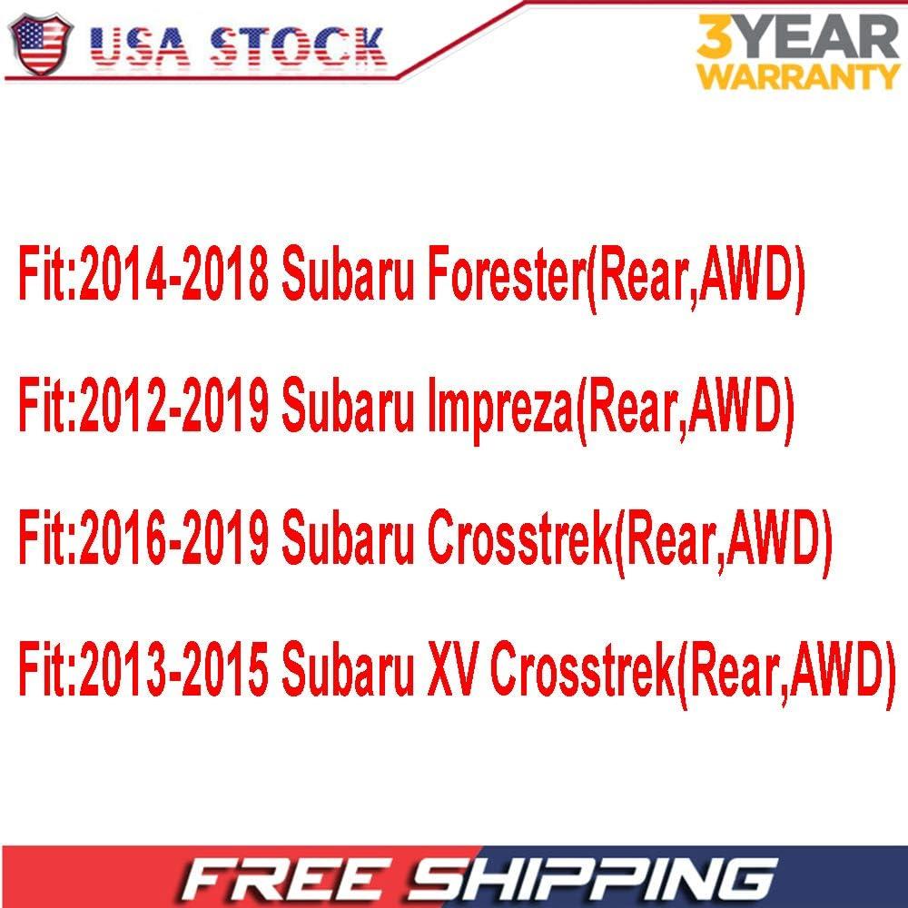 2016-2019 Subaru Crosstrek Replace 512518 2013-2015 Subaru XV Crosstrek Hub Bearing 5 Lugs Rear Wheel Bearing and Hub Assembly Fit 2014-2018 Subaru Forester 2012-2019 Subaru Impreza