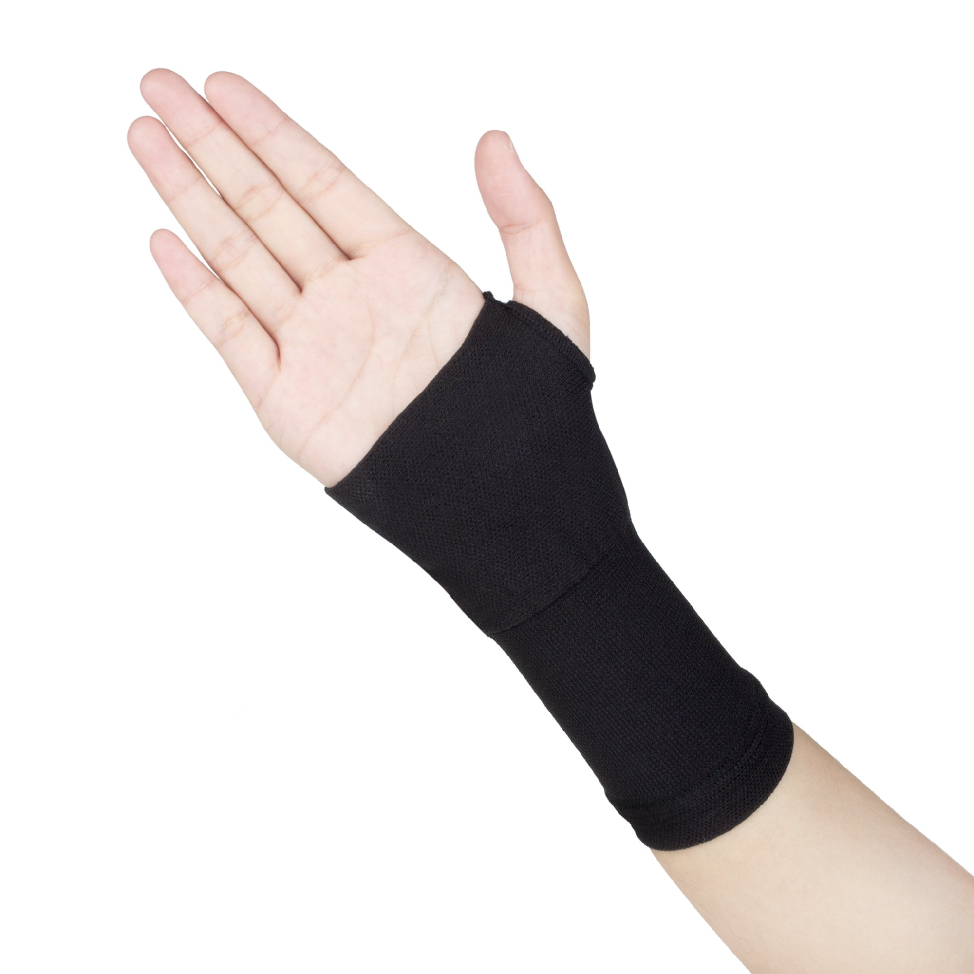 Fanssy 1 Pair 30-40mmHg Professional Slim Compression Medical Palm Wrist Band Carpal Tunnel Pain Relief Tendinitis Fitness Hand Supports Sleeve Wrap Brace