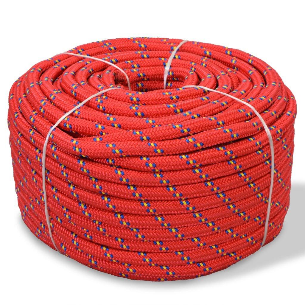 Festnight Cuerda Marina - Color de Rojo Material de Polipropileno, 10mm x 50m