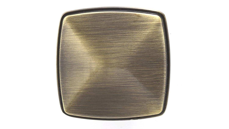 Richelieu Hardware BP81045195 Transitional Metal Knob 1 2//3x1 2//3,Brushed Nickel 1 2//3x1 2//3
