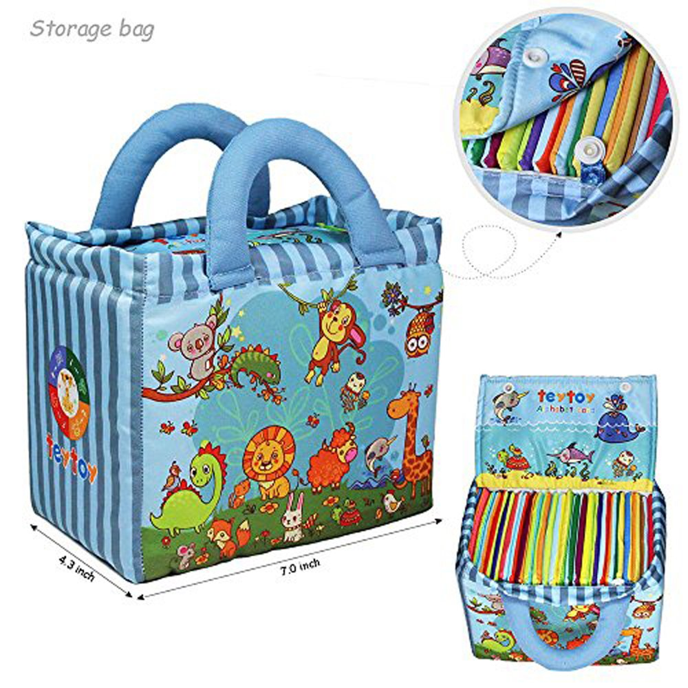 teytoy Baby Toy Zoo Series 26pcs Soft Alphabet Cards with Cloth Bag for Over 0 Years by teytoy (Image #3)
