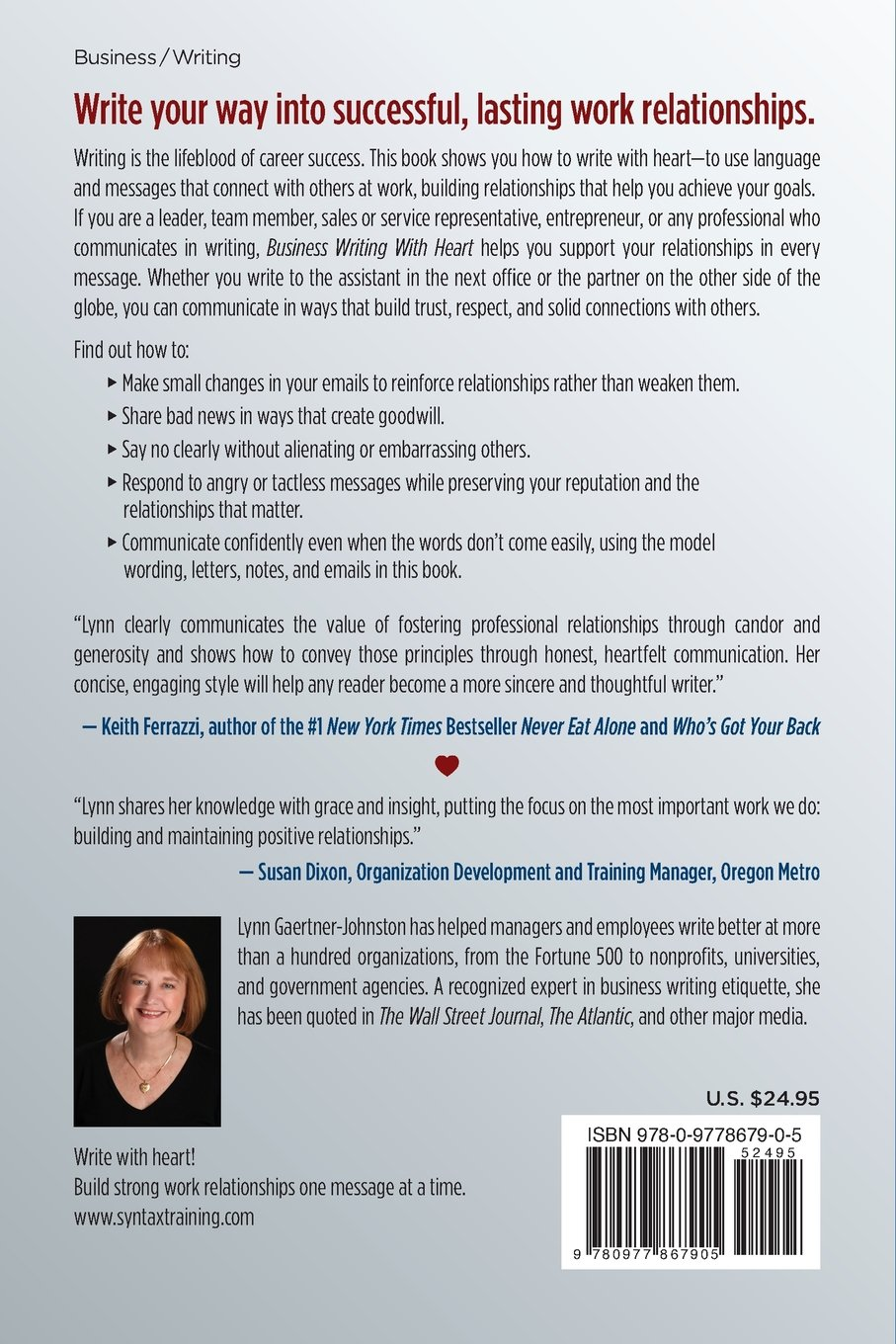 Business Writing With Heart How To Build Great Work Relationships