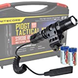 Nitecore P10GT 900 Lumens Rifle Mountable Premium LED Tactical Flashlight Kit with Lumen Tactical Picatinny Rail Mount and Strobe Ready Pressure Switch