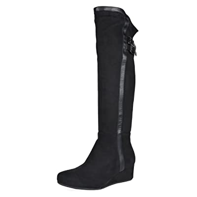 DREAM PAIRS Women's Over The Knee Thigh High Stretch Boots   Over-the-Knee