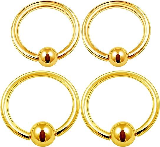 5PCS Steel Rose Black Captive Bead Hoop Earrings 16g 6mm 8mm 10mm 3mm Ball Rook Earrings Nose Piercing Jewelry Choose Sizes