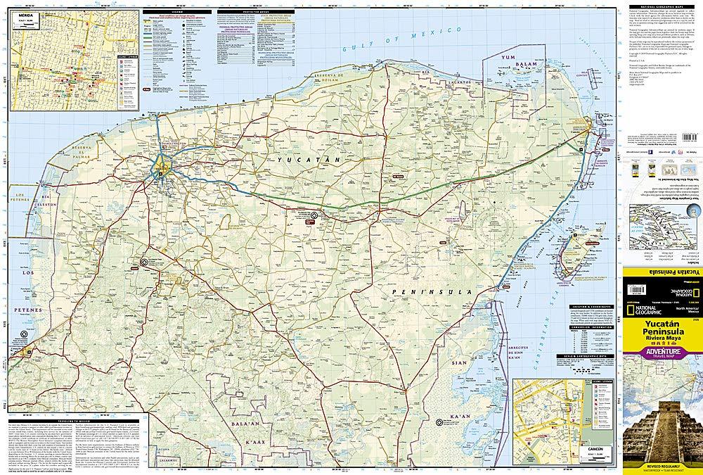 Yucatan Peninsula: Riviera Maya [Mexico] (National Geographic ... on zacatecas map, oaxaca map, pampas map, mahahual map, baja map, cozumel map, cancun map, belize map, merida map, quintana roo map, mexico map, riviera maya map, tenochtitlan map, puerto rico map, chiapas map, hawaii map, campeche map, mesoamerica map, panama map, guadalajara map,