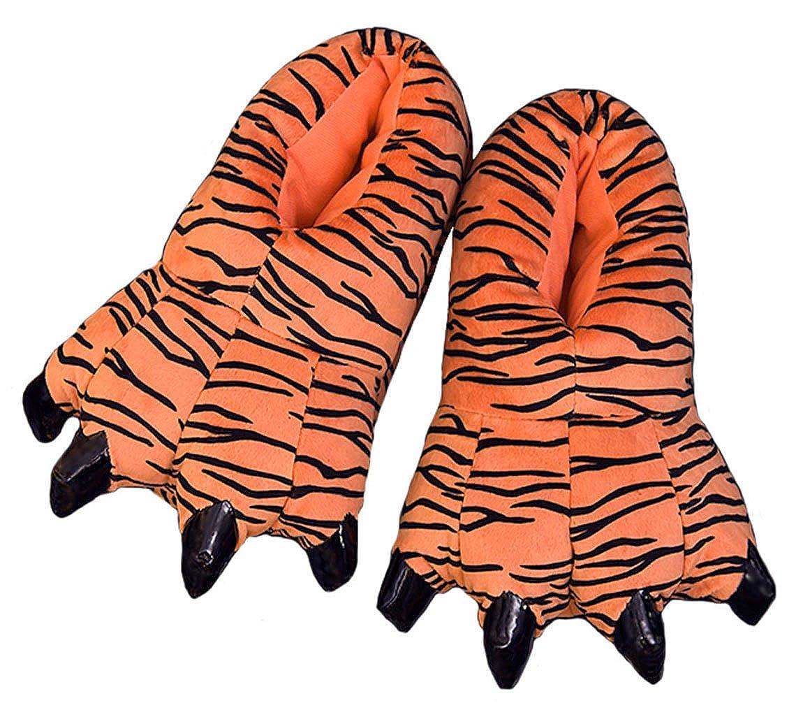 Alta qualità Cartone Animato Zampa Peluche Dinosauro Artiglio Pantofole Inverno Caldo casa Fuzzy Mostro Pantofole Unisex Animale Costume di Halloween Tiger
