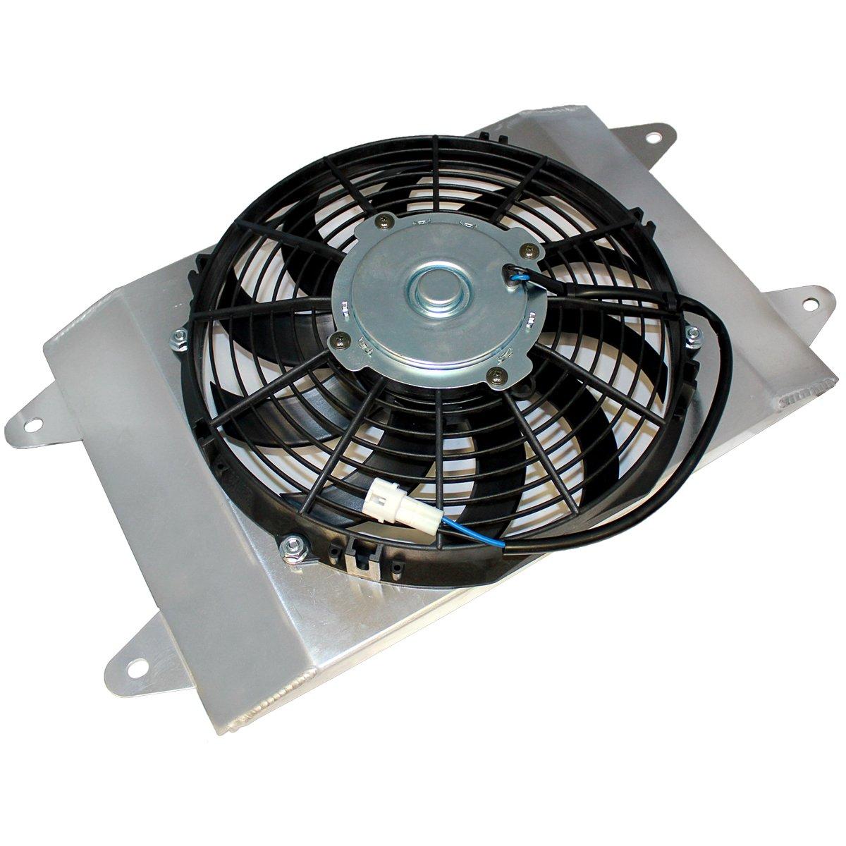 Caltric RADIATOR COOLING FAN FITS YAMAHA RHINO 700 YXR70F YXR-70F 686cc Engine 2008-2013 59502-0011 by Caltric
