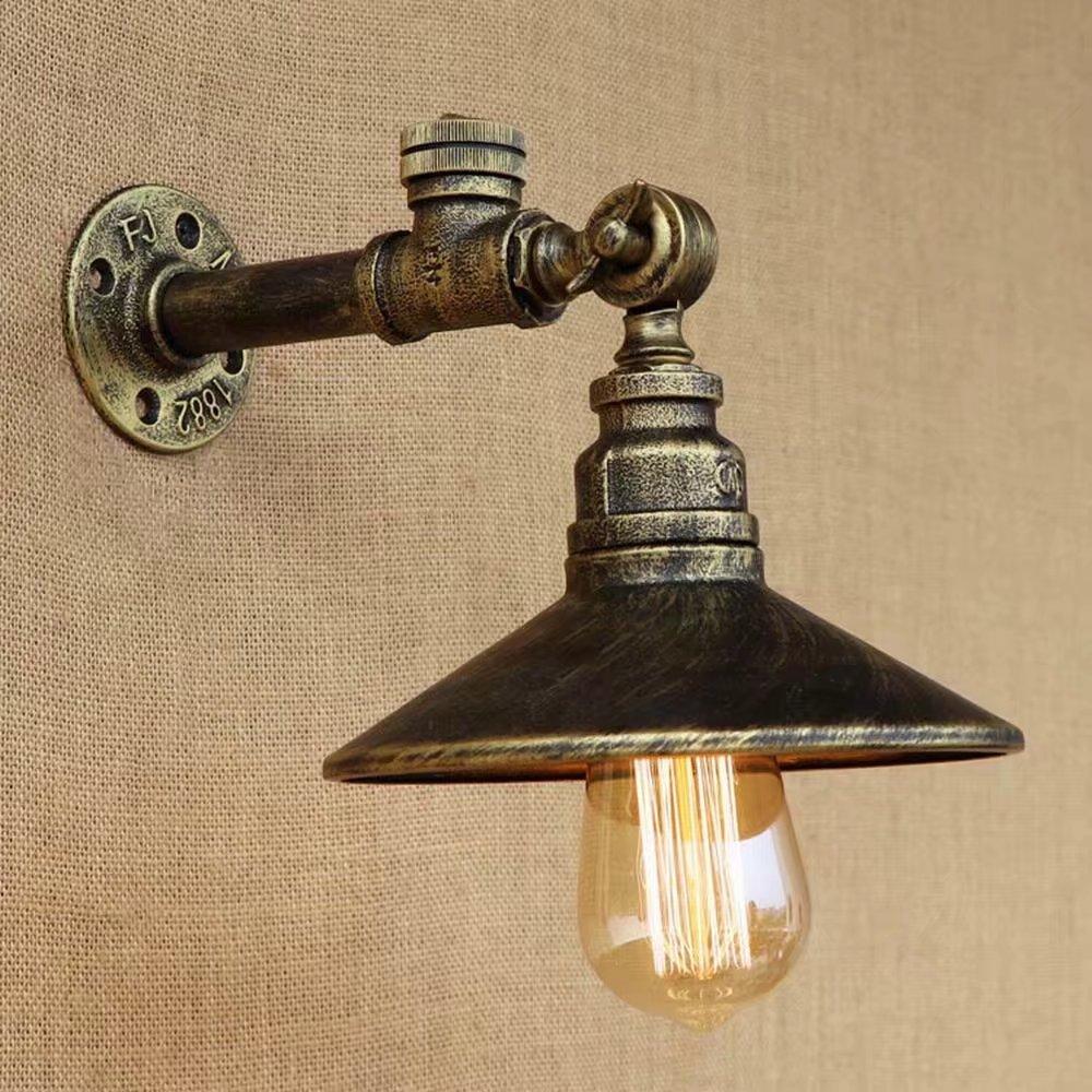 Lingkai ONE Light Vintage Industrial Edison Loft Coffee Bar Wall Sconce Clear Glass Shade Retro Light Fixtures(Bronze) Aniu Illumination