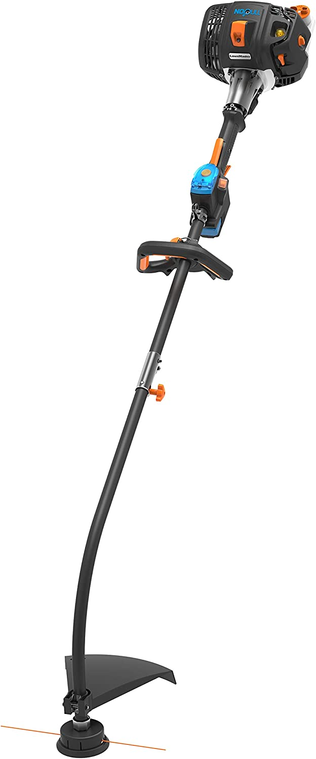 LawnMaster NPTGSS2617A NPTGCP2617A 26cc 2-Cycle No Pull Split Shaft String Trimmer, Black