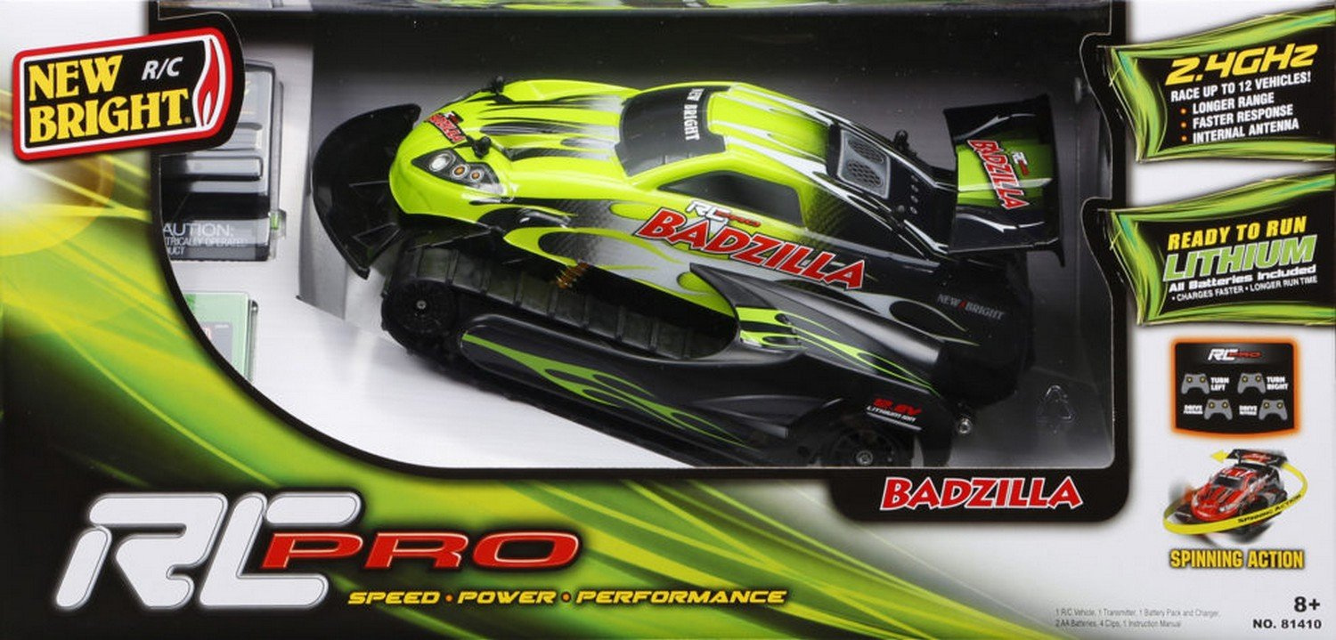 New Bright - Radio Control badzilla Pro FF Escala 1:14 - Carrefour: Amazon.es: Juguetes y juegos