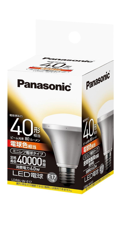 Panasonic LED bombilla everleds (minirefu tipo, total flujo luminoso 310lm? Luz Color de la bombilla equivalent-cap E17) ldr6lwe17: Amazon.es: Hogar