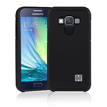 32nd Funda Armadura Rigida Slim Armour con Doble Carcasa para Samsung Galaxy A3 (2015) SM-A300 - Negro