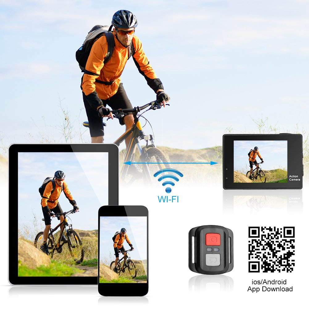 Epoch Making Action Camera, 4K Ultra HD WIFI Waterproof Sports Action Camera With 2-INCH LCD For Racing,Riding,Motorcycle,Surfing,Diving,Snorkeling,and More Water Sports by Epoch Making (Image #4)