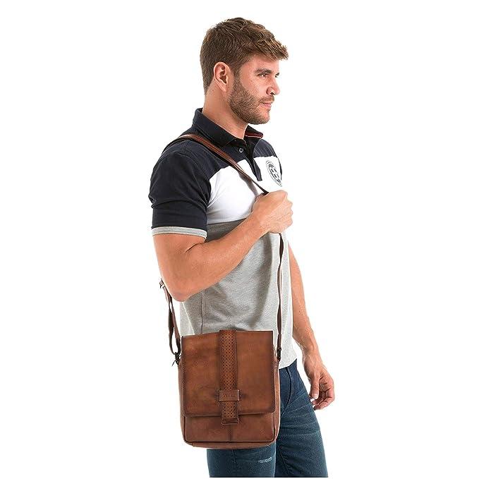 Amazon.com | VÉLEZ 20238 Men Genuine Leather Crossbody Bag | Bandolera De Cuero Honey | Backpacks