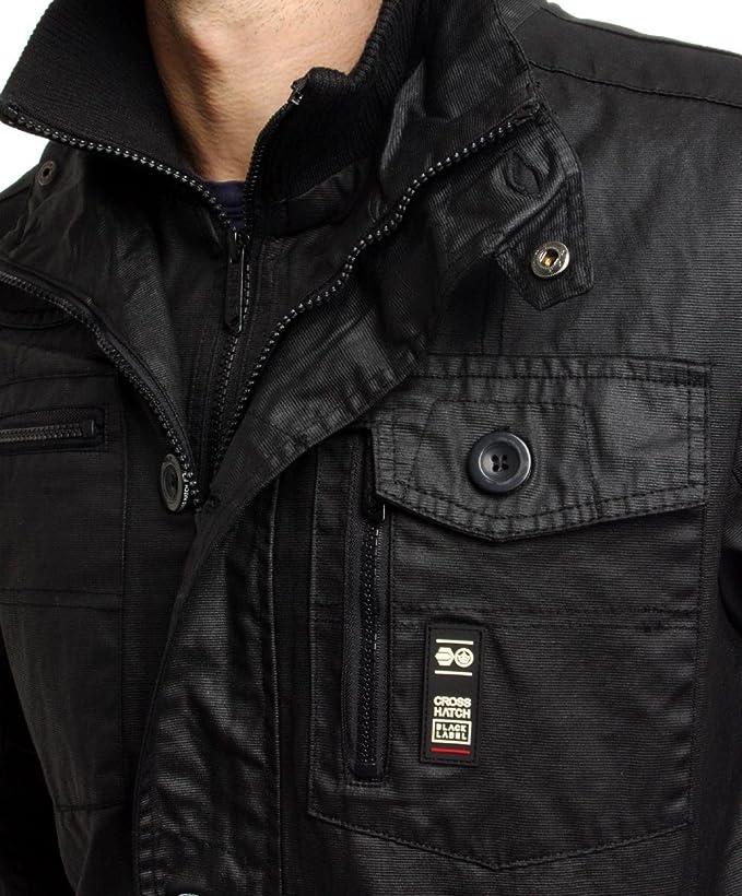 CrossHatch Herren Plixxie Coated Black Jacke Schwarz: Amazon