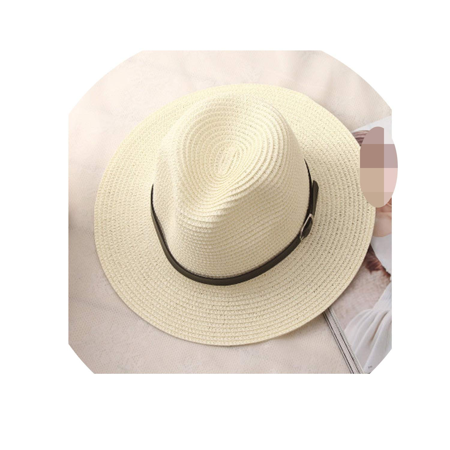 Women Summer hat Men Classic Black Girdle Panama Sunhats Jazz Hat Beach Hats for Women Hats Femme