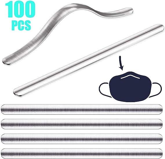 100pcs YAN XUNA 100//200//500//1000 Pcs Mask Nose Aluminum Wire,90mm//3.54 Metal Strip Nose Bridge for Face DIY Making Accessories Crafts