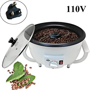 Coffee Roaster Machine Coffee Bean Roasting Electric for Cafe Shop Home Household Use (Coffee roaster-2#)110V