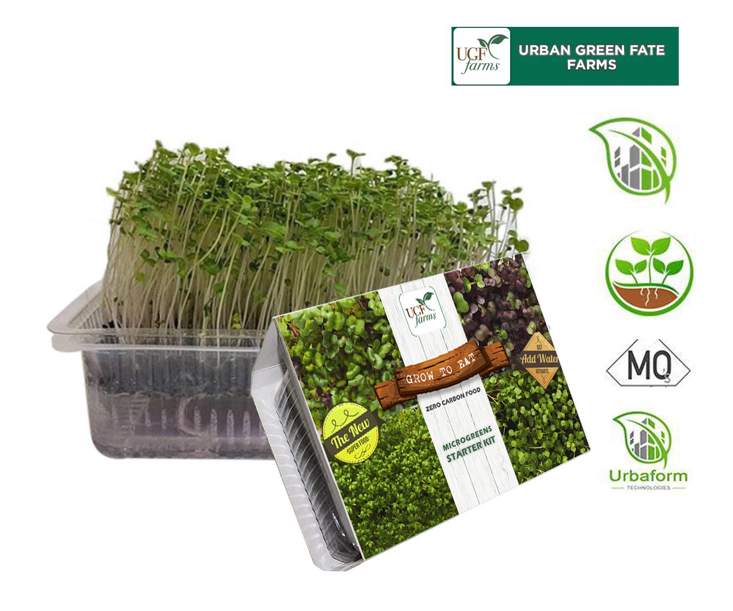 Ugf Farms Garden Cress Microgreen Soilless Organic Plant Seeds