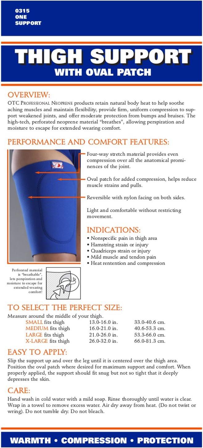 Neoprene OTC Thigh Support Oval Compression Pad Medium