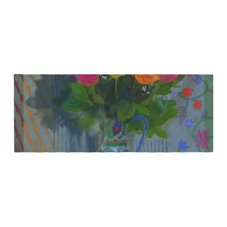 Kess InHouse S. Seema Z Spring Bouquet Orange Flowers Bed Runner