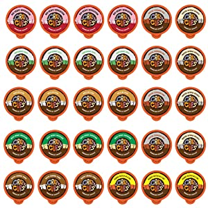 Crazy Cups Premium Hot Chocolate Single Serve Cups for Keurig K Cup Brewers, Variety Pack Sampler, 30 count