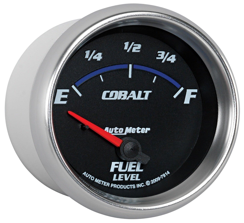 Auto Meter 7914 Cobalt 2-5//8 0 E// 90 F Short Sweep Electric Fuel Level Gauge for GM