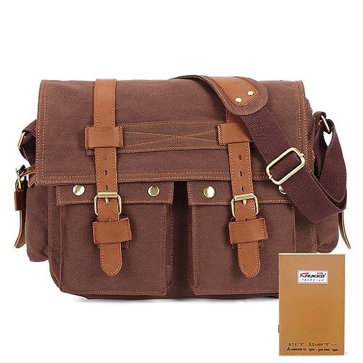 Amazon.com: Classic Laptop Messenger Bag, Vintage Military Men ...