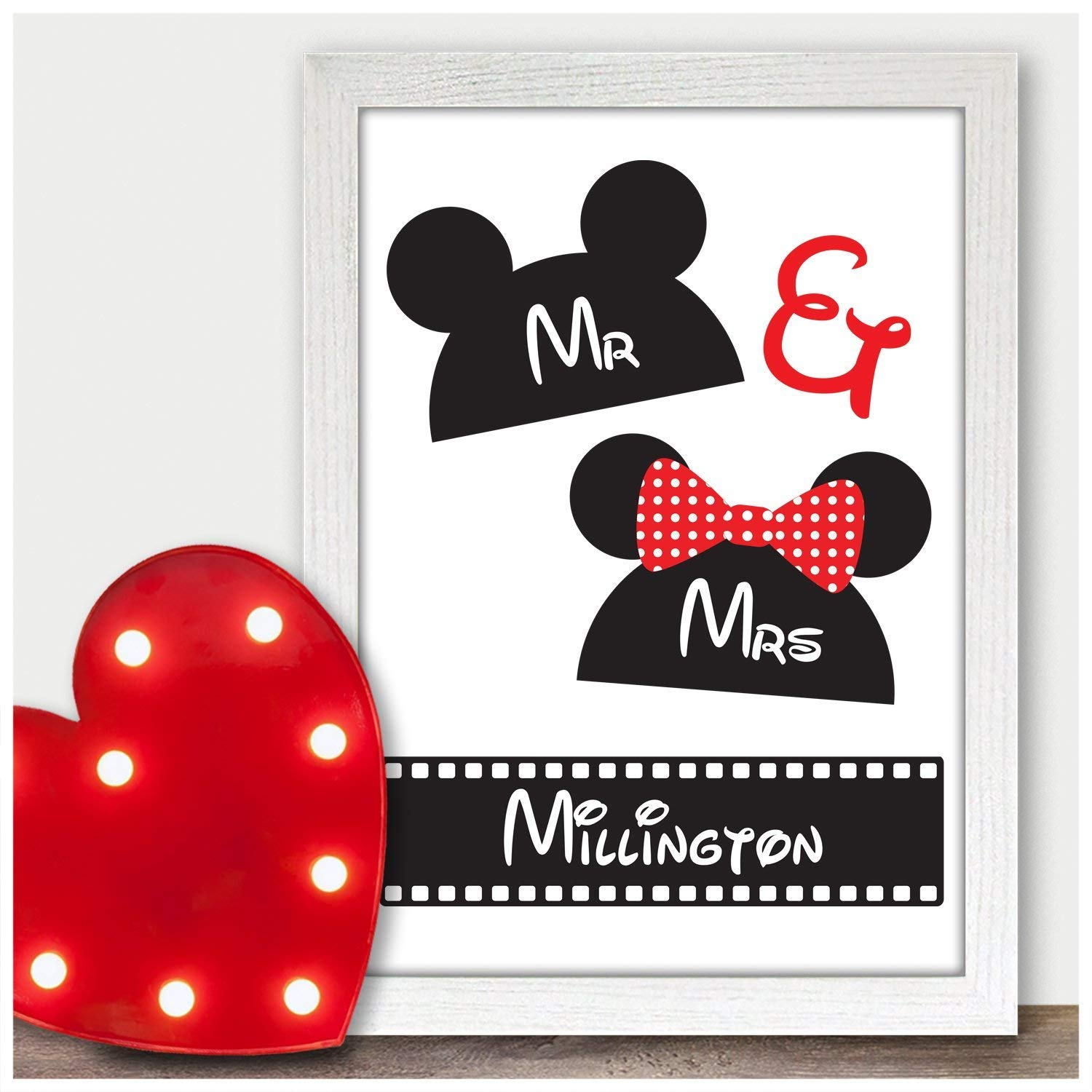 Personalized Valentines Gift For Him Gifts For Boyfriend Valentines Day Printed Valentine/'s Gift 4 or 6 Magnetic Wood Photo Block