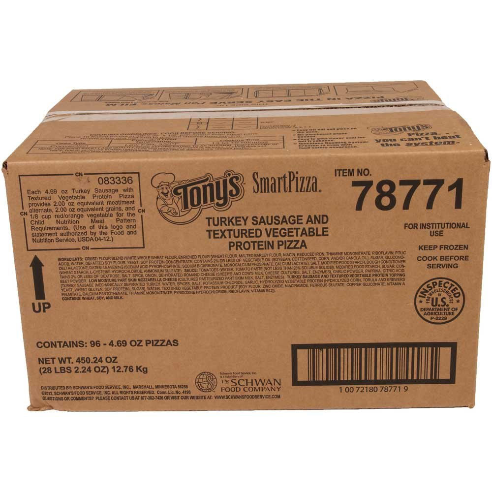 Tonys Smart Pizza Whole Grain Sausage Pizza -- 96 per case. by Schwan's (Image #2)
