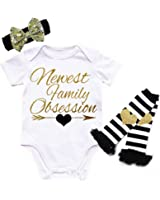 G&G - Cute and Funny Glitter Baby Girl 3pc Clothing Set Outfit