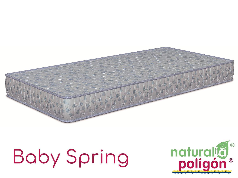 NATURALIA & Poligón - Colchón de cuna Baby Spring con muelles 17 cm - Talla 117x57cm, color azul: Amazon.es: Hogar