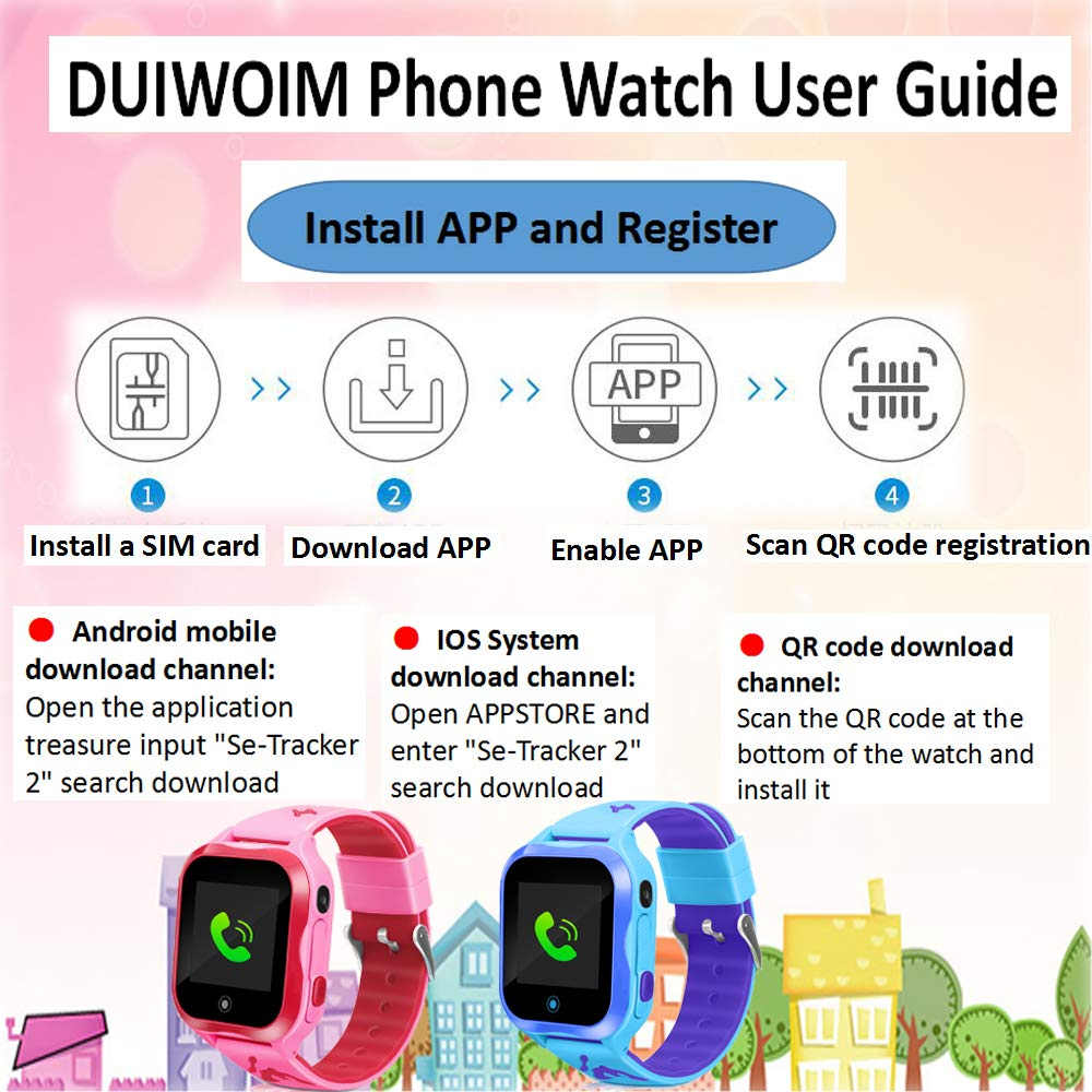 Kids Smart Watch, Accurate GPS Tracker Phone Watches: Amazon