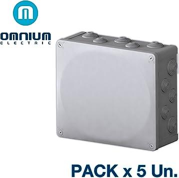 Caja estanca IP55, 325x275x120mm, con conos y tapa con tornillos ...