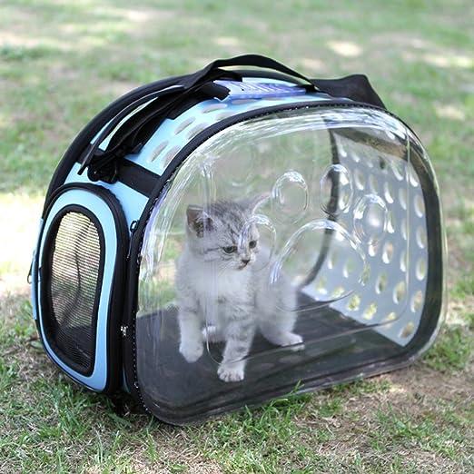 Starter Bolsa de Transporte Perros Gatos Mascotas Viaje Medidas Transportin Perro Gato 36cm*22cm*20cm Aprobadas por la Compañía Aérea Operadora (Azul): Amazon.es: Productos para mascotas