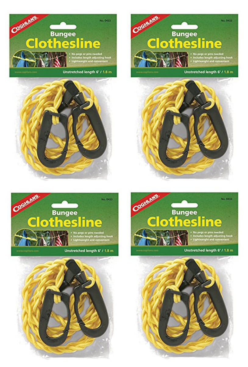 Coghlan's Bungee Clothesline, 4 Pack