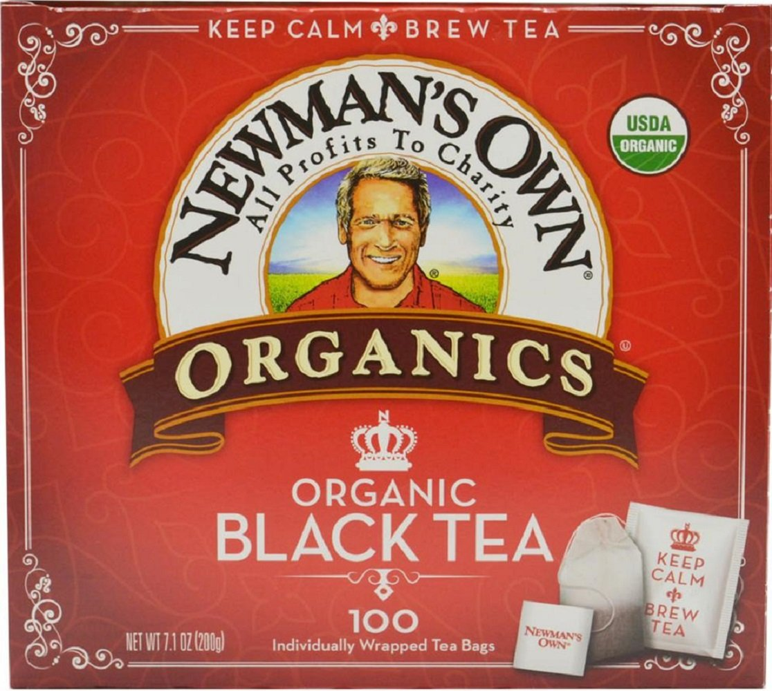 Newman's Own Organics, Black Tea Bags, 100 Count (Pack of 5)