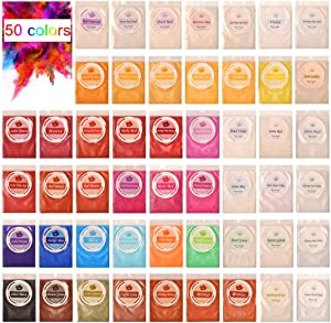 Biutee Mica Powder 50 Colors Slime pigments 5g/pcs Soap Making dye Food Grade Skin Safe Resin Dye for Soap Making/Bath Bomb/Resin Jewelry/Nail Art/Eyeshadow DIY/Candle Making (50 Colors)