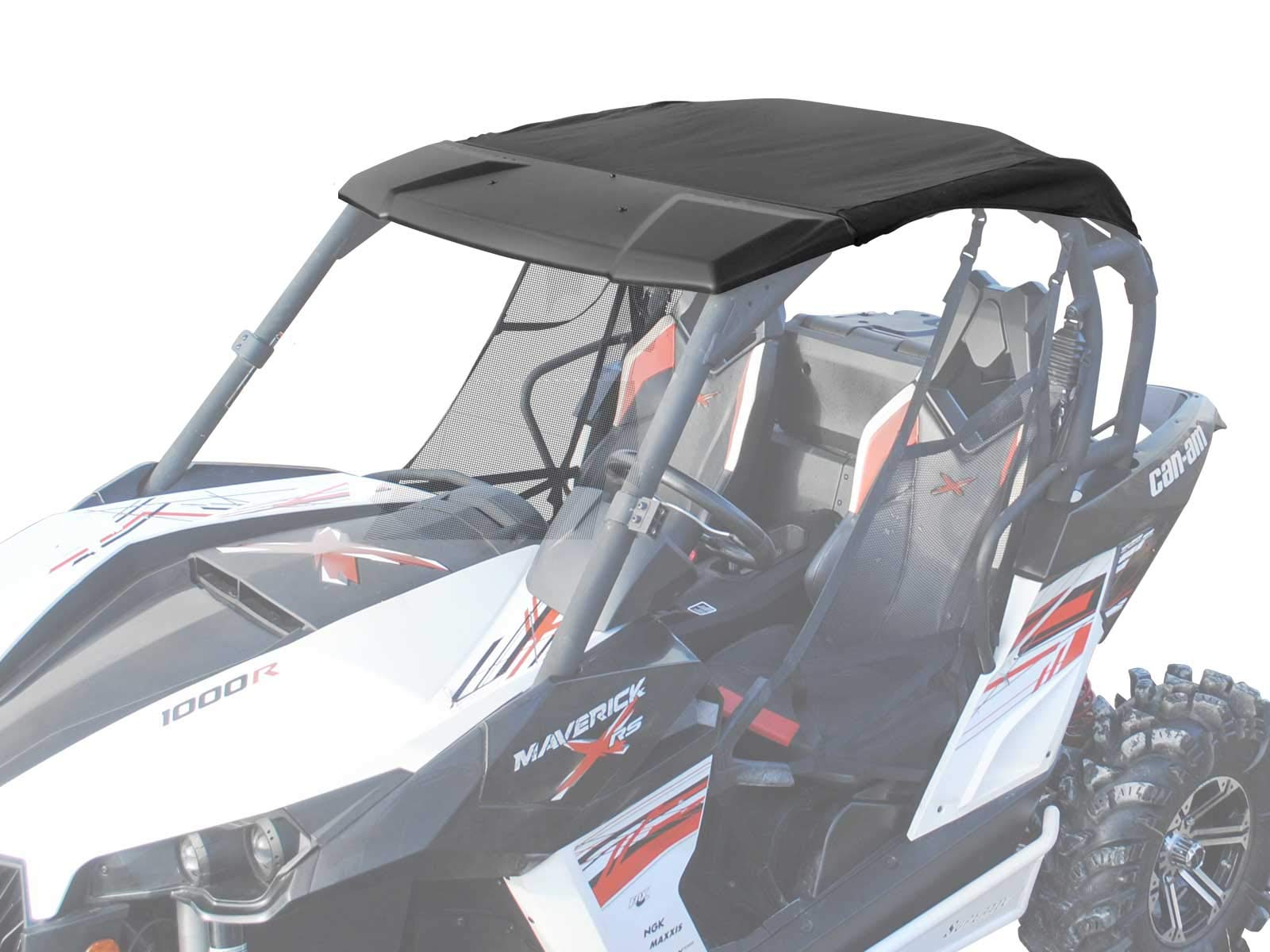 SuperATV Heavy Duty Soft Top Roof for Can-Am Maverick (2013-2018) - Easy To Install!