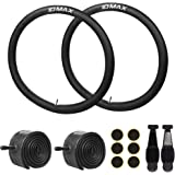 26 Inch Bike Tube, IDMAX 26'' x 1.95/2.10/2.125 Replacement Inner Tire Tubes 2 Pack, Heavy Duty Thorn Resistant Inner Tire wi