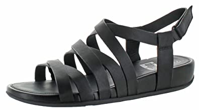 ef4f14acb FitFlop Women s Lumy Leather Sandal All Black Sandal