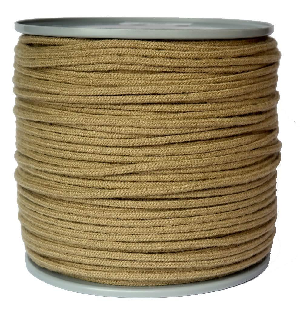 Polyhanfseil - Poly-Hanfseil Durchmesser 5 mm -200 Meter auf Scheibenspule - 100% Polypropylen - Seil 16fach Geflochten Fb. leinen