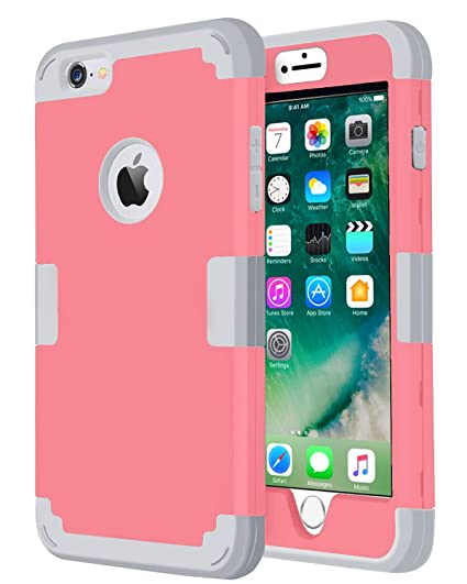 sports shoes 4283c 51cd2 iPhone 6 Plus Case,iPhone 6s Plus Case,Jwest iPhone 6 Plus Covers Hard  Shell Soft Silicone Dual Layer Heavy Duty Shockproof Hybrid Protective  Covers ...